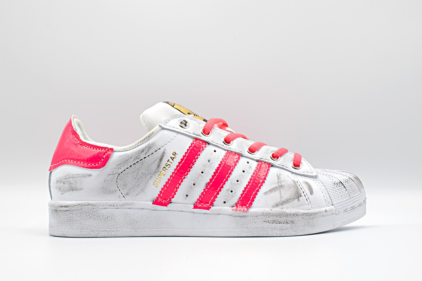 adidas superstar rosa fluo | Unishoes.it